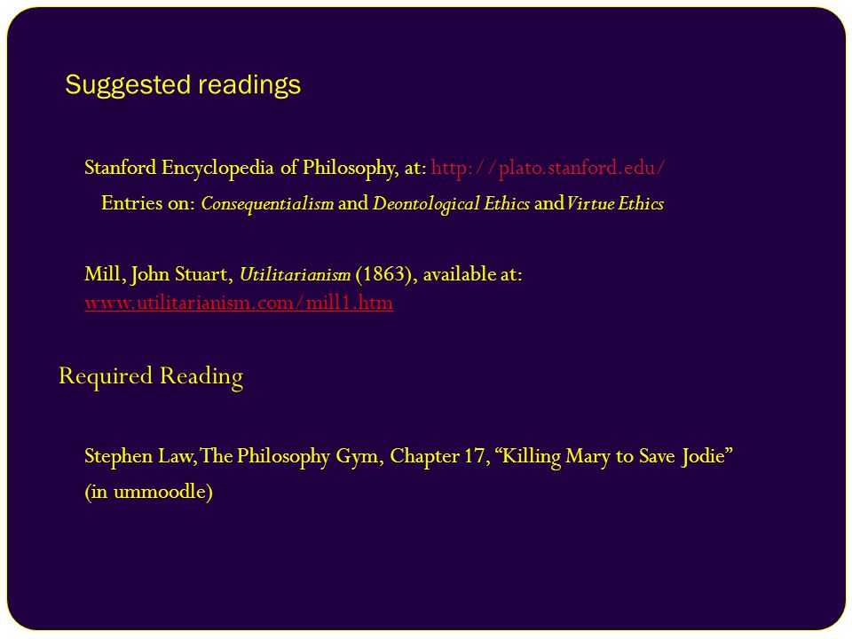 Suggested readings Required Reading