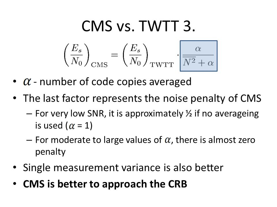 CMS vs. TWTT 3. - number of code copies averaged