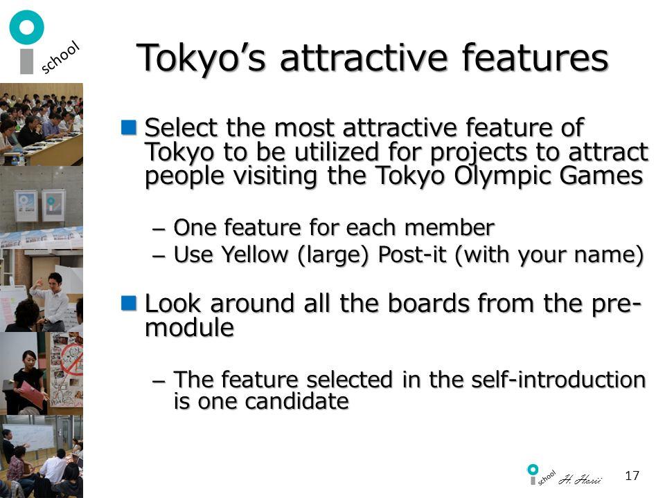 Tokyo's attractive features