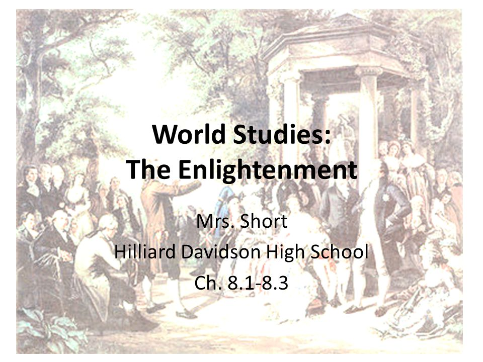 World Studies: The Enlightenment