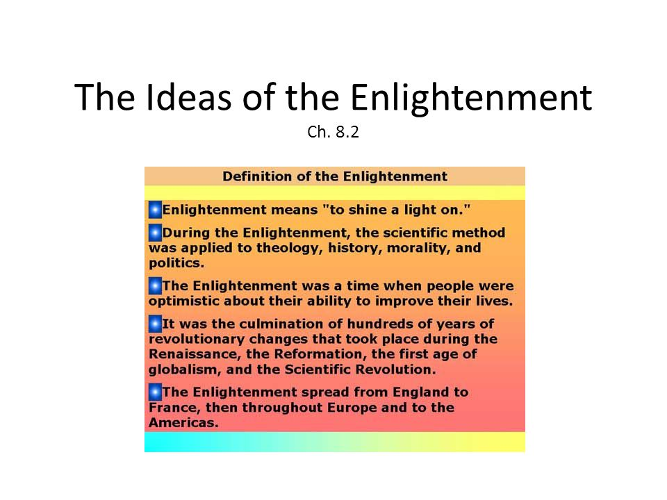 The Ideas of the Enlightenment Ch. 8.2