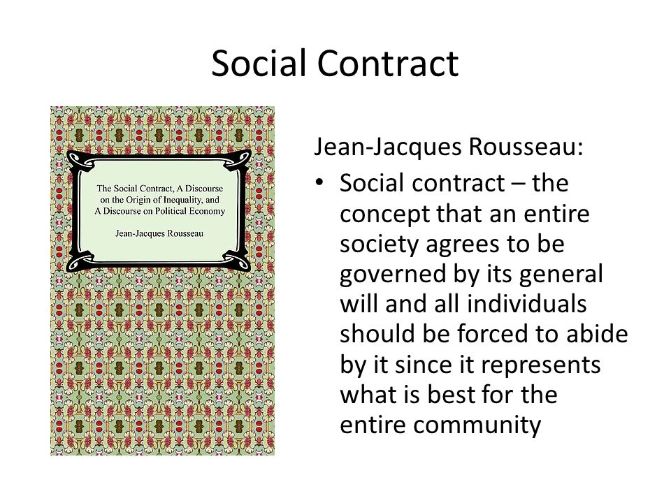 Social Contract Jean-Jacques Rousseau: