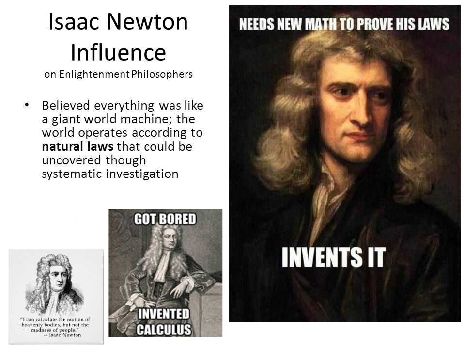 Isaac Newton Influence on Enlightenment Philosophers