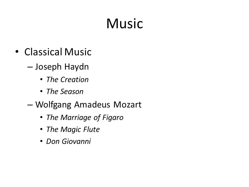 Music Classical Music Joseph Haydn Wolfgang Amadeus Mozart