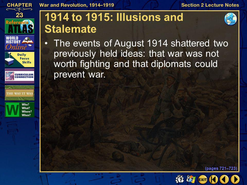 1914 to 1915: Illusions and Stalemate