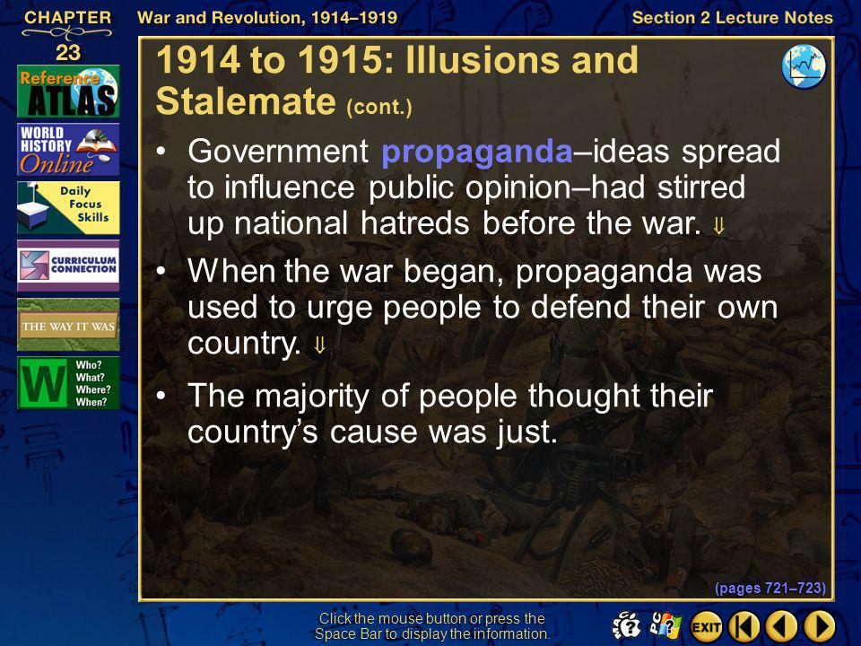 1914 to 1915: Illusions and Stalemate (cont.)
