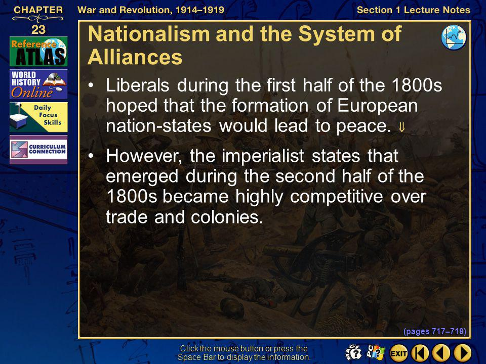 Nationalism and the System of Alliances