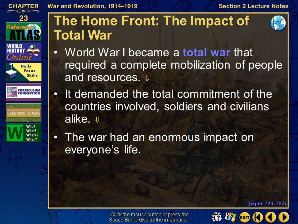 The Home Front: The Impact of Total War