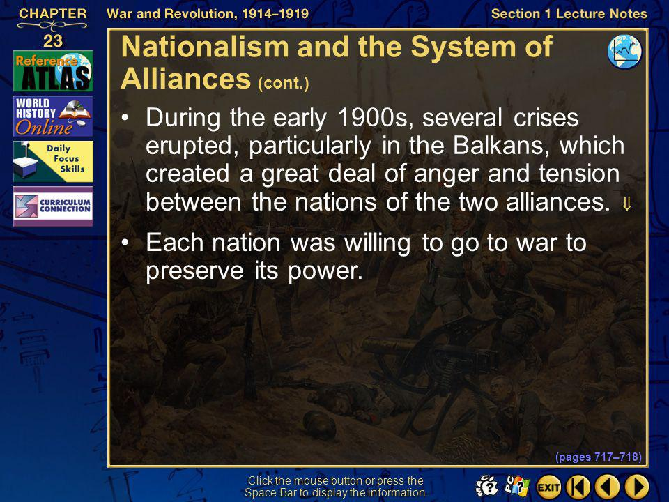 Nationalism and the System of Alliances (cont.)