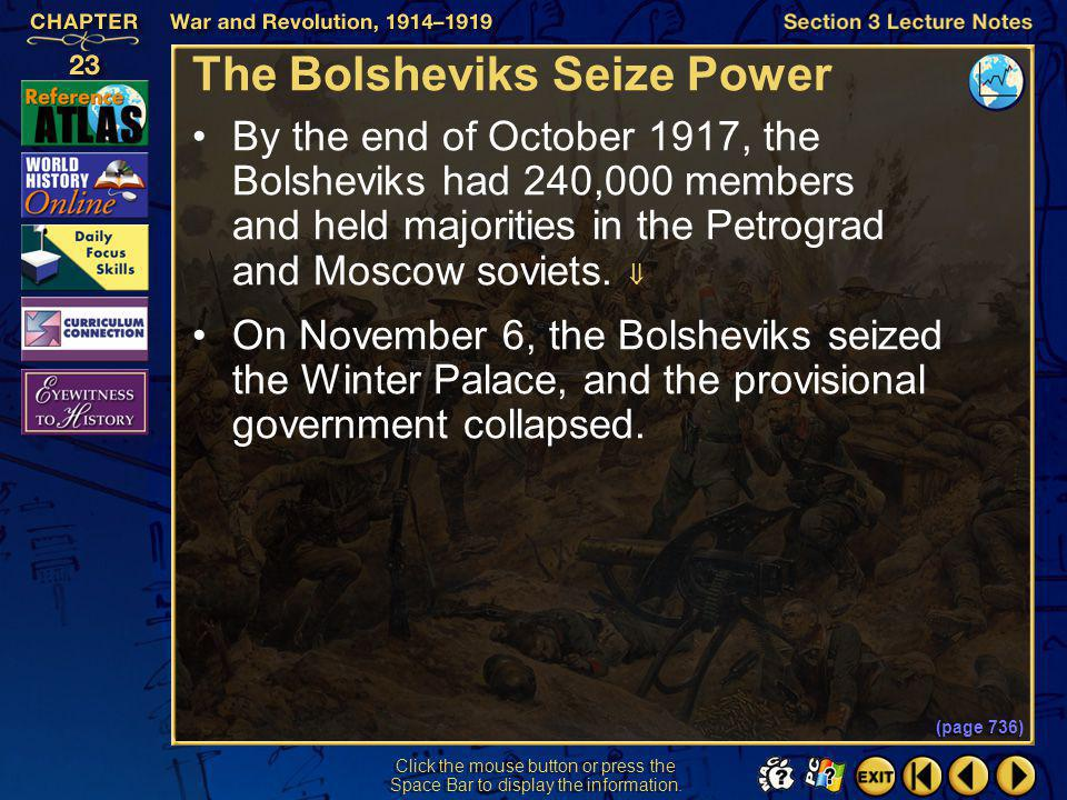 The Bolsheviks Seize Power