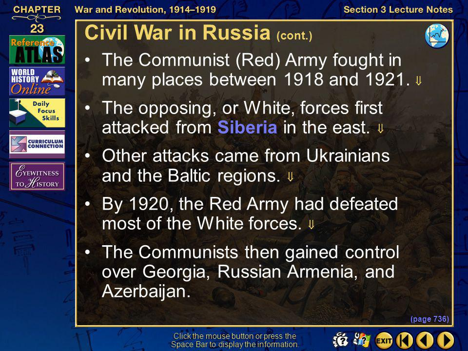 Civil War in Russia (cont.)