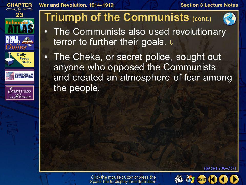 Triumph of the Communists (cont.)