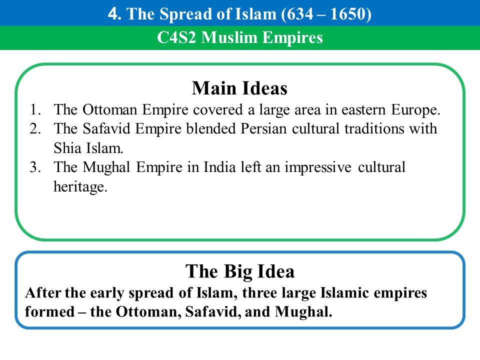 Main Ideas The Big Idea 4. The Spread of Islam (634 – 1650)