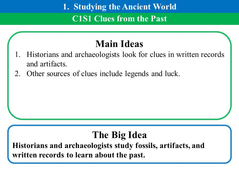 1. Studying the Ancient World