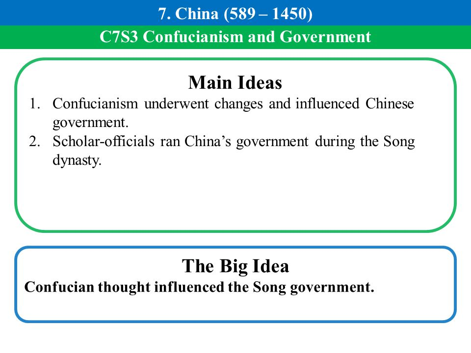 C7S3 Confucianism and Government