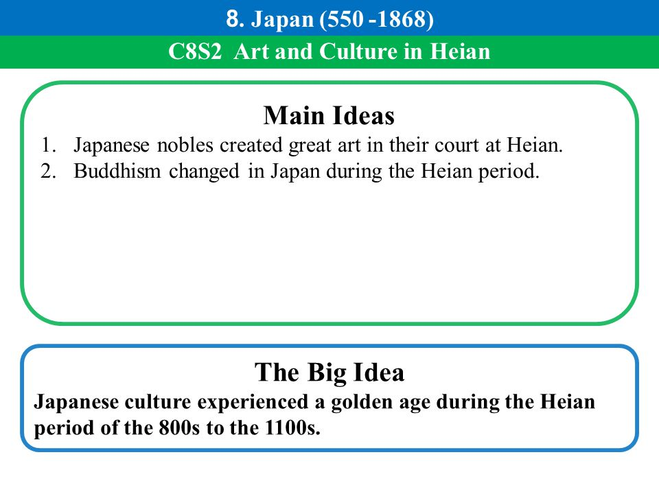 C8S2 Art and Culture in Heian