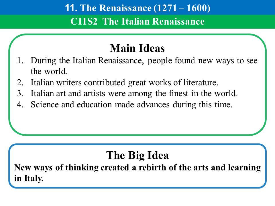 C11S2 The Italian Renaissance