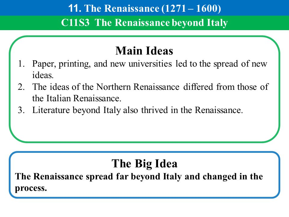 C11S3 The Renaissance beyond Italy