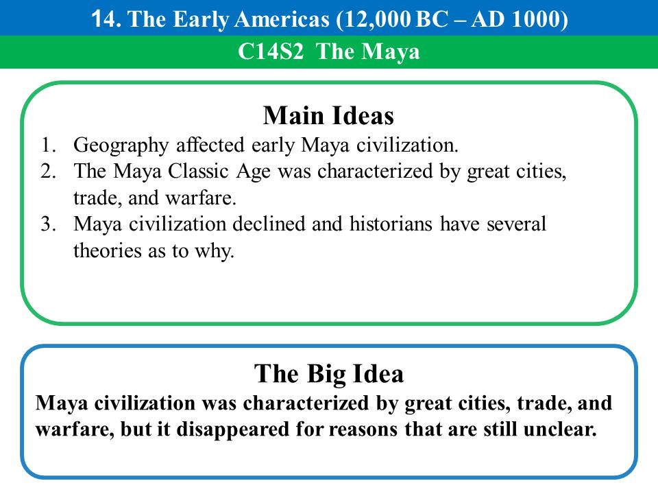 14. The Early Americas (12,000 BC – AD 1000)