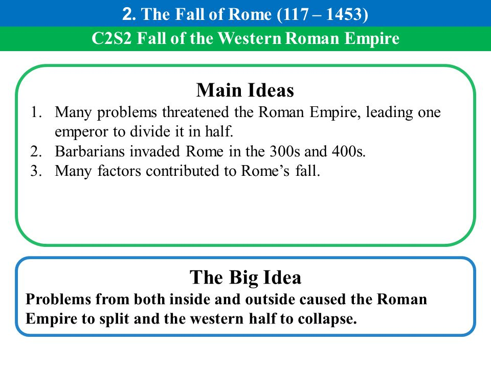 C2S2 Fall of the Western Roman Empire