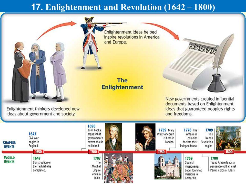 17. Enlightenment and Revolution (1642 – 1800)