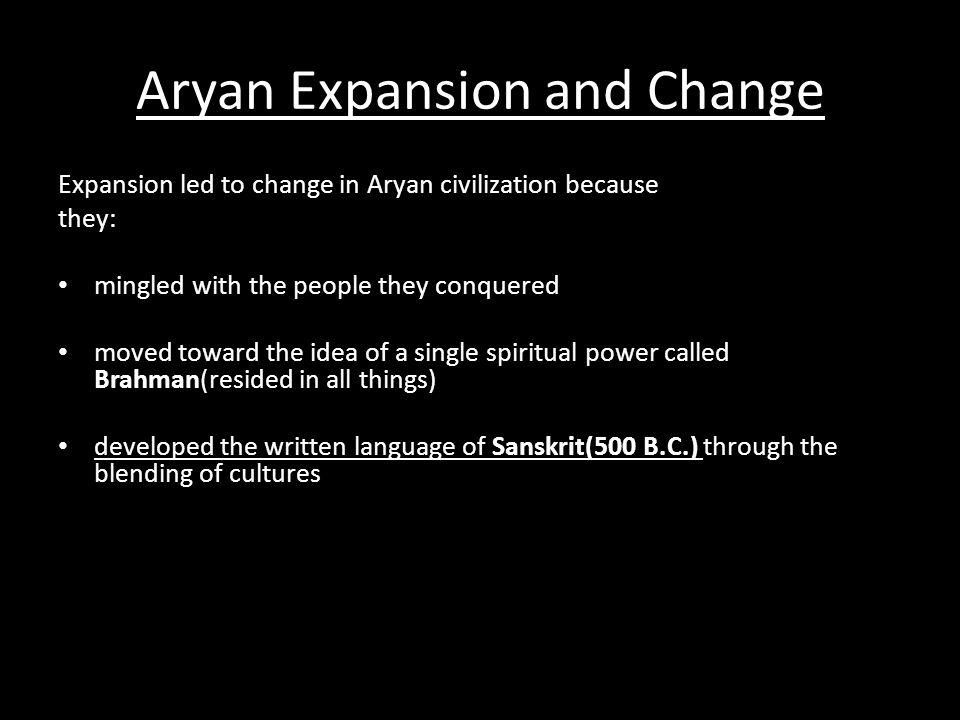 Aryan Expansion and Change