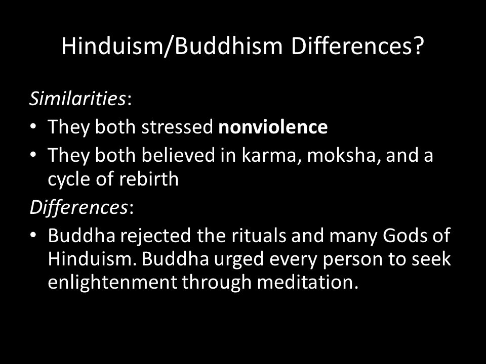 Hinduism/Buddhism Differences