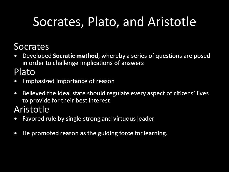 Socrates, Plato, and Aristotle