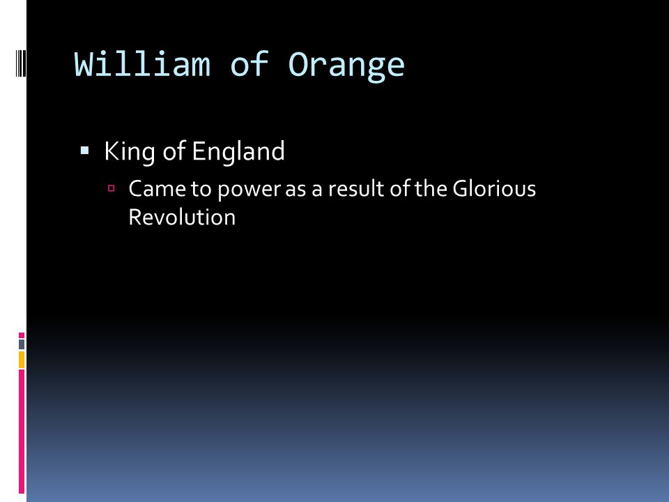 William of Orange King of England
