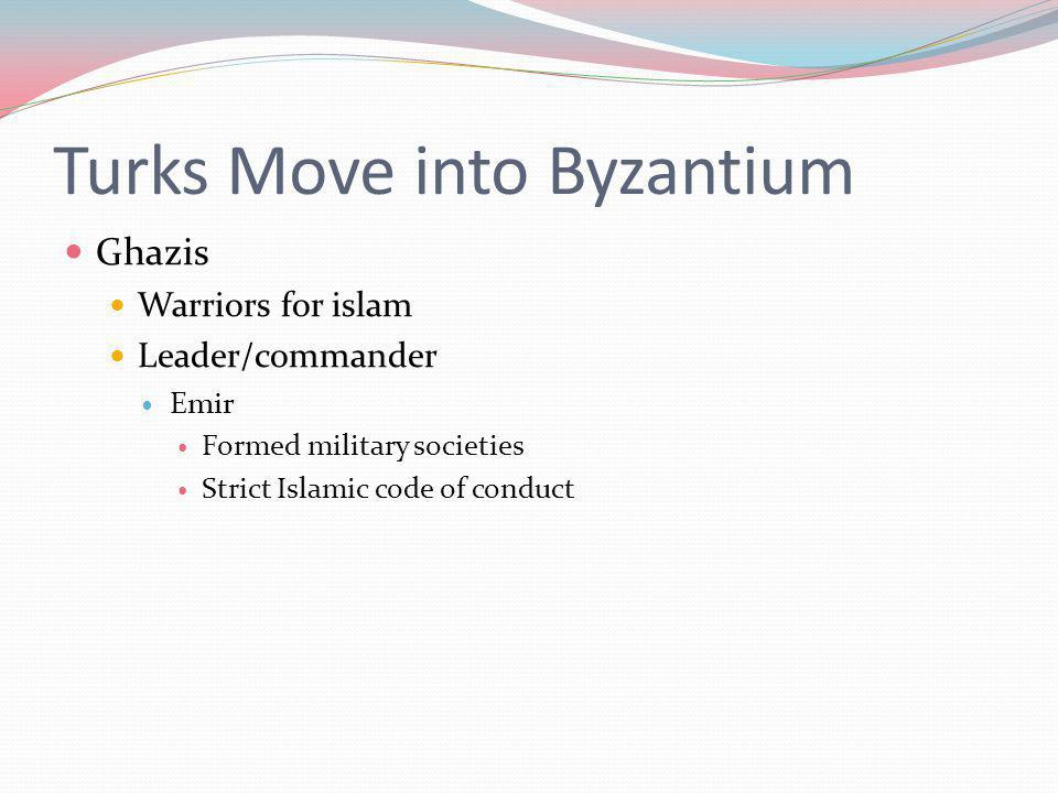 Turks Move into Byzantium
