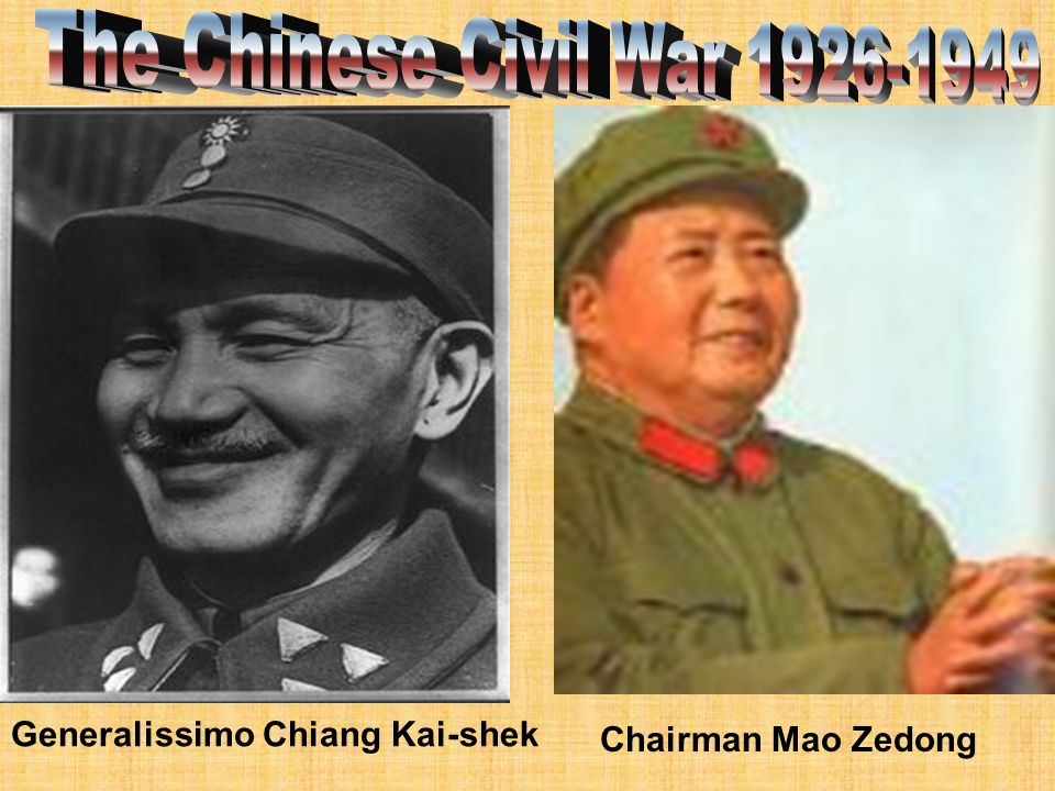 The Chinese Civil War 1926-1949 Generalissimo Chiang Kai-shek