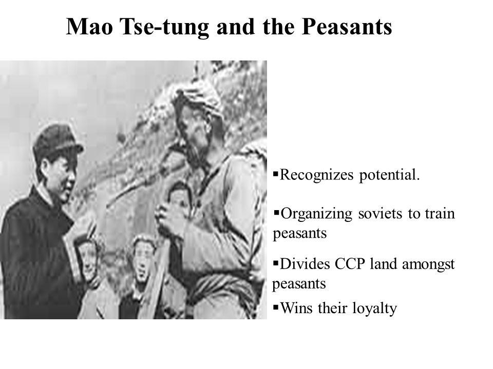 Mao Tse-tung and the Peasants