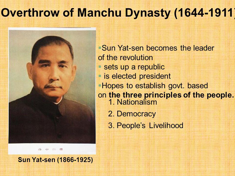 Overthrow of Manchu Dynasty (1644-1911)