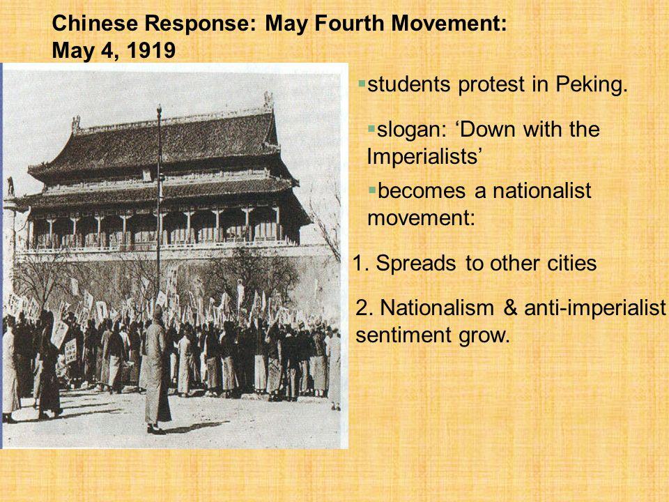 Chinese Response: May Fourth Movement: May 4, 1919
