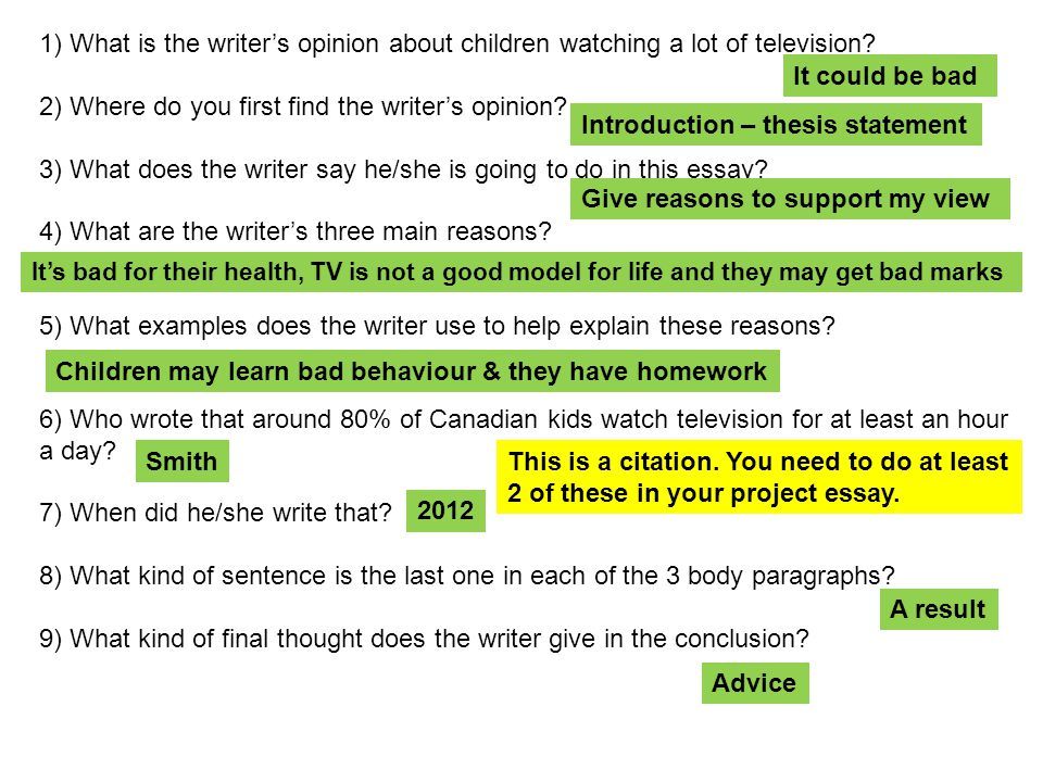Television and childhood obesity essay introduction