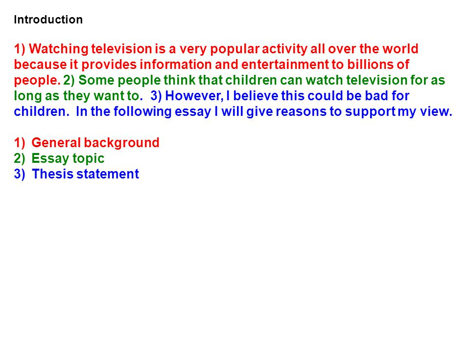 what s the topic of our essay ppt video online  introduction