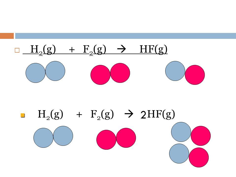 H2(g) + F2(g)  HF(g) H2(g) + F2(g)  HF(g) 2