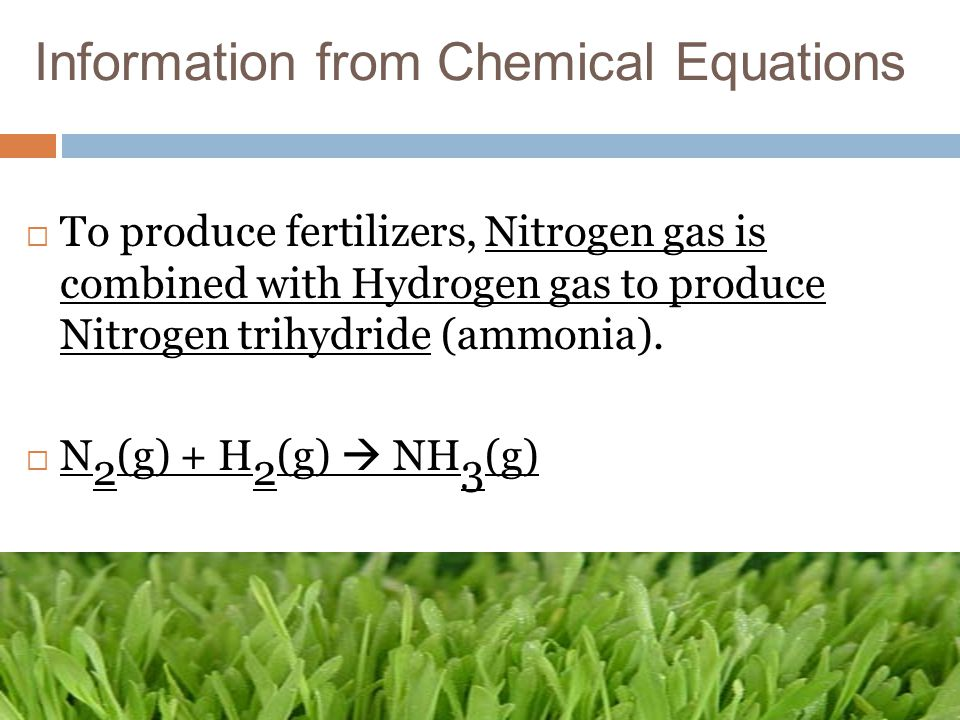 Information from Chemical Equations
