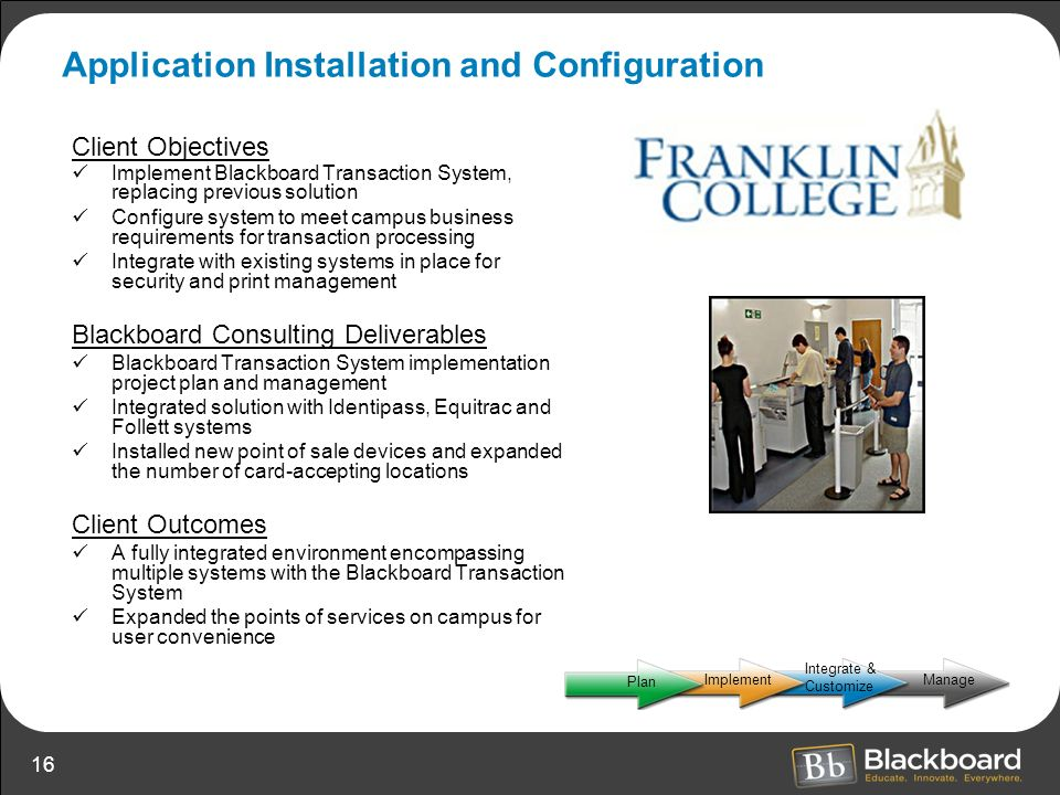 Application Installation and Configuration