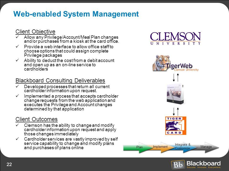 Web-enabled System Management