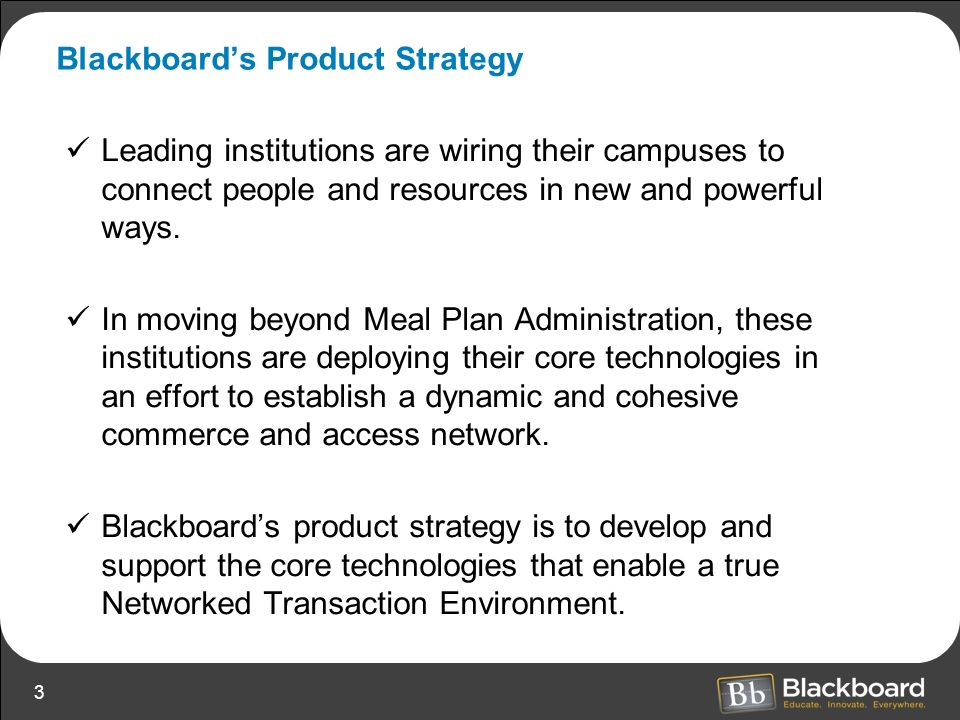 Blackboard's Product Strategy