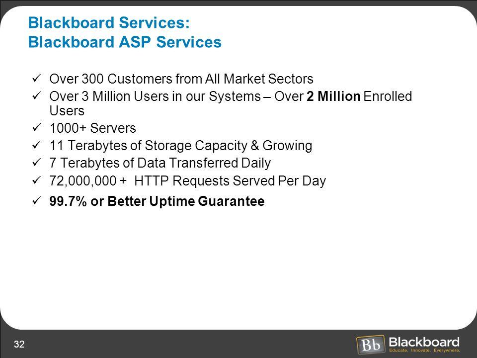 Blackboard Services: Blackboard ASP Services