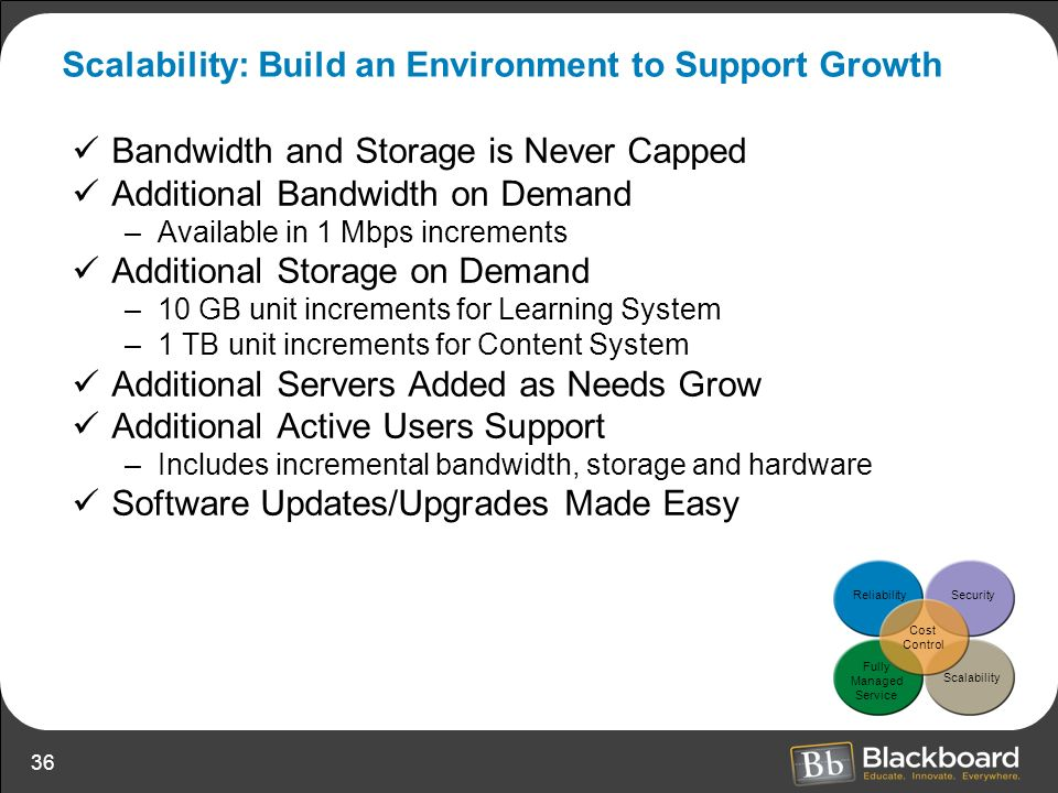 Scalability: Build an Environment to Support Growth