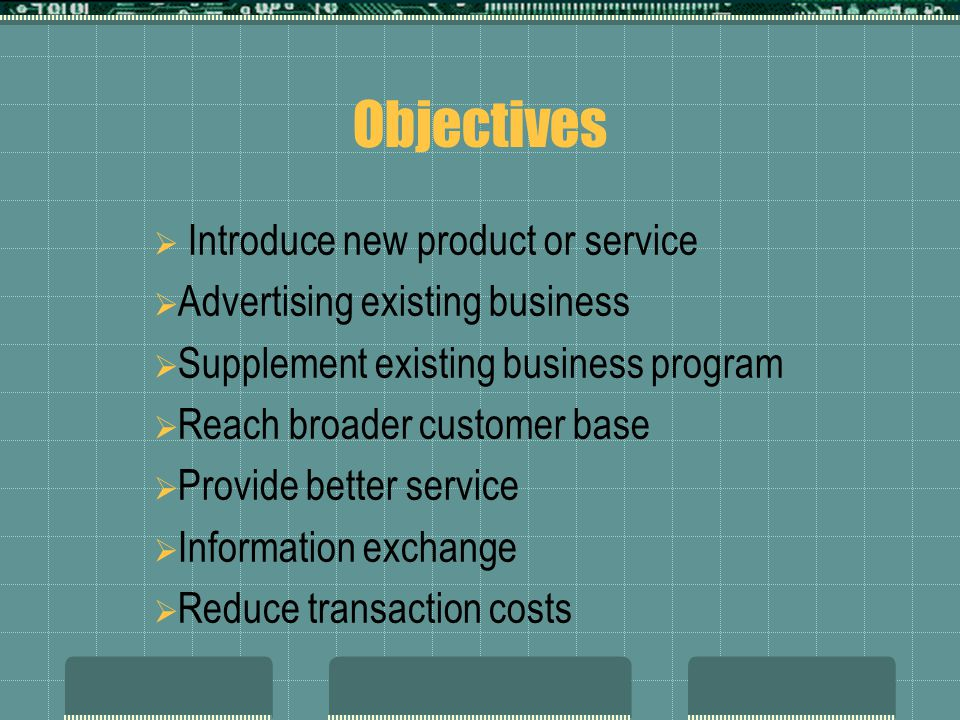 Objectives Introduce new product or service