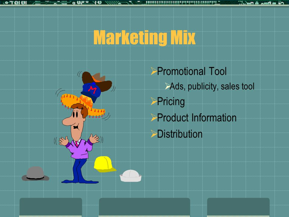 Marketing Mix Promotional Tool Pricing Product Information