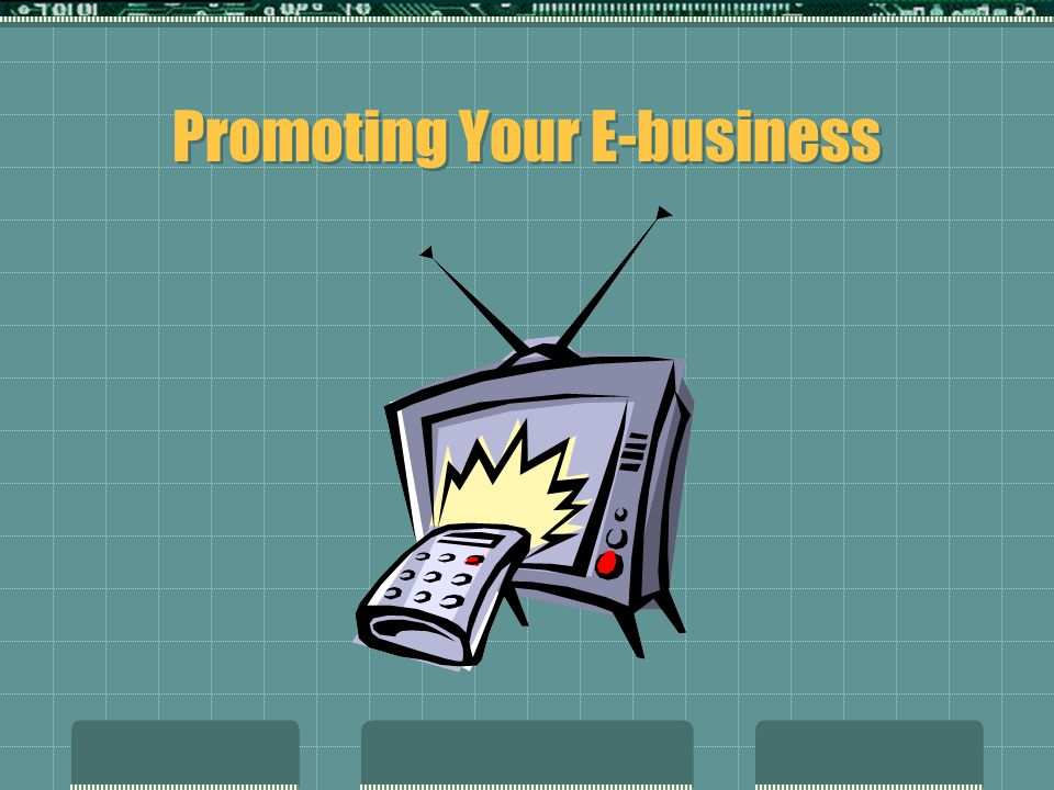 Promoting Your E-business