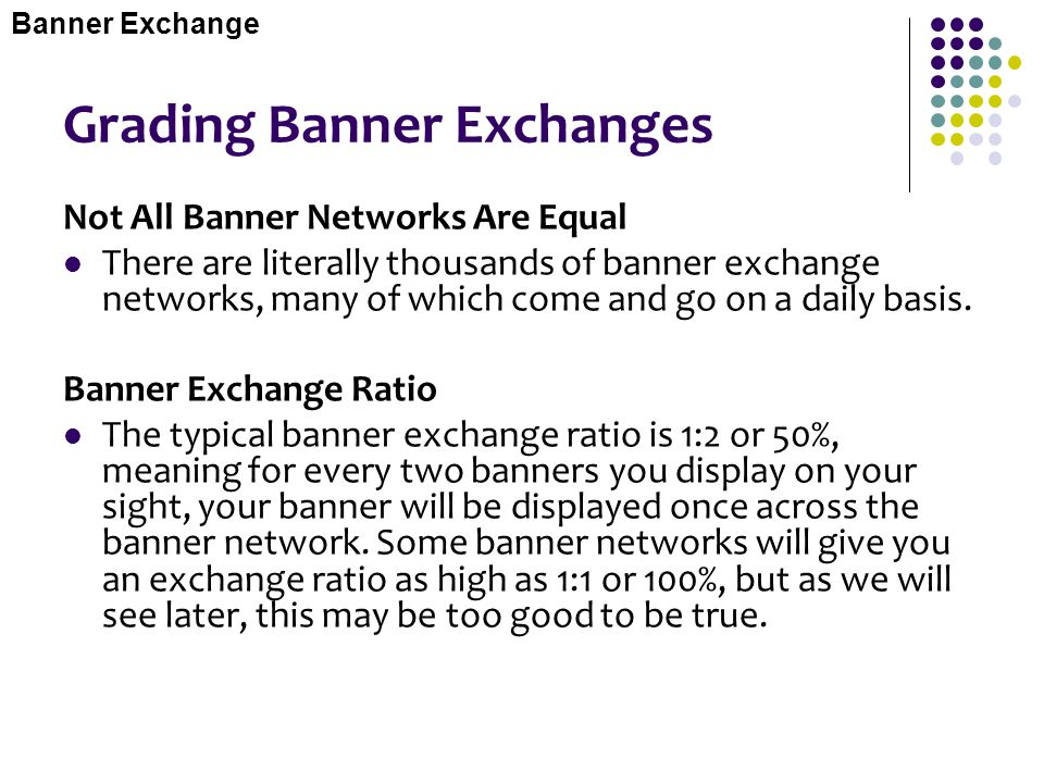 Grading Banner Exchanges