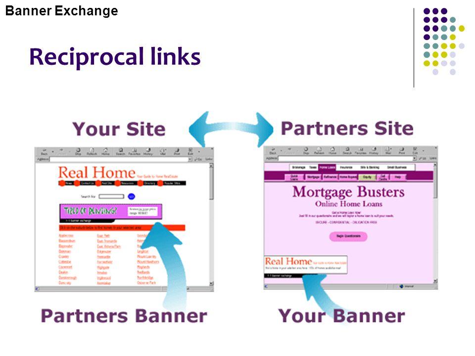 Banner Exchange Reciprocal links