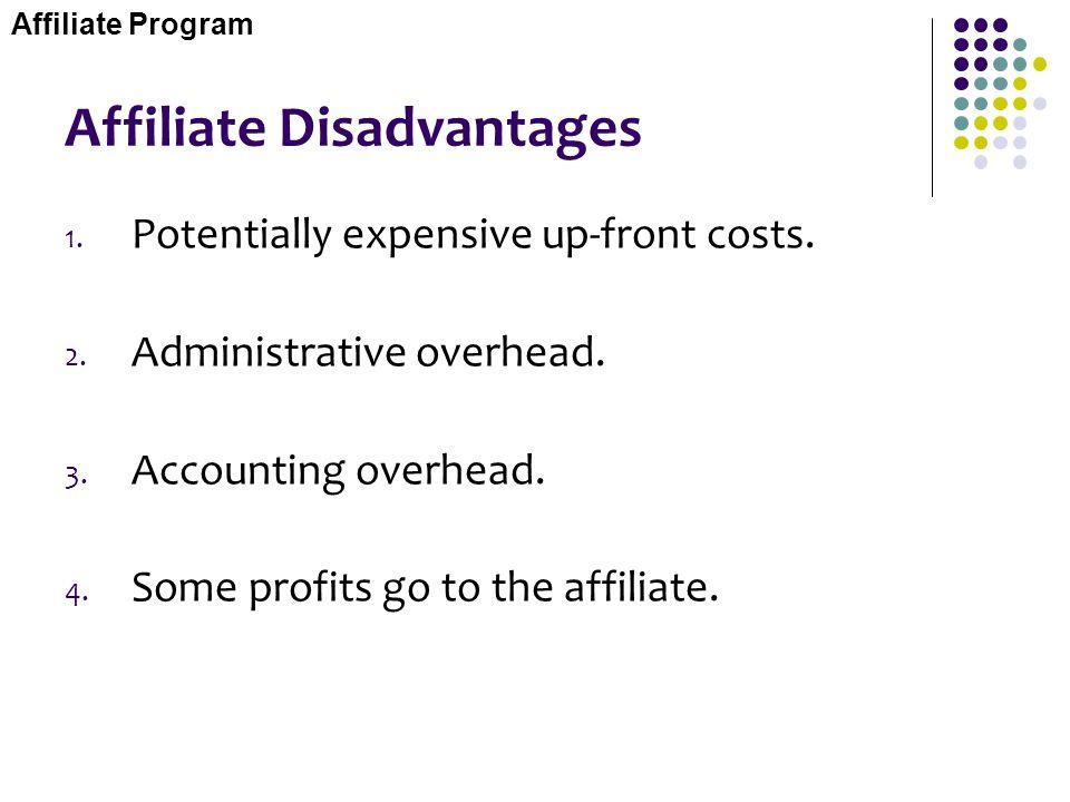 Affiliate Disadvantages