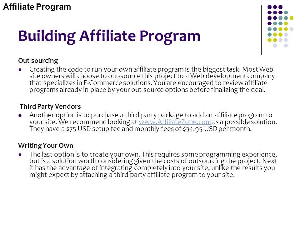 Building Affiliate Program